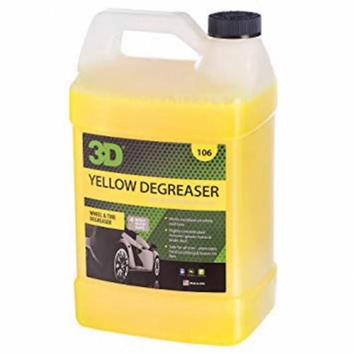 Удалитель тормозной пыли и жирных пятен c покрышек 3D (3,785 л) - Yellow Degreaser 106G01