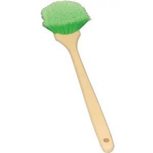 Щетка с перьевой щетиной, зеленая, устойчива к кислотам и моющим средствам 3D - M-03L