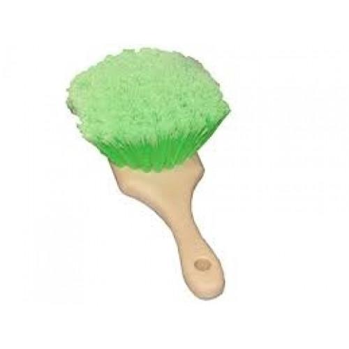 Щетка с перьевой щетиной, зеленая, устойчива к кислотам и моющим средствам 3D - M-03S