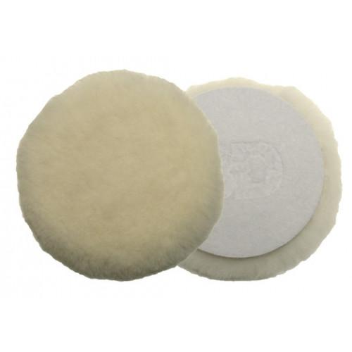 Несинтетический круг из шерсти ягненка прошитый по краям. 3D - 76 мм - K-KW3