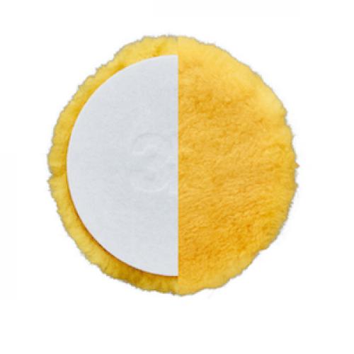 Несинтетический круг из шерсти ягненка 3D - Yellow X-Cut Lamb Wool Pad K-XW8