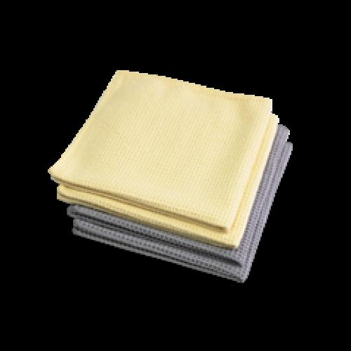 Салфетка из микрофибры для протирки стекла Microfaser-Waffeltuch, комплект 4 штуки