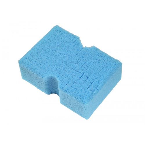 Крупно-пористая губка для пенных шампуней 99-big blue Cubed sponge blue 76*127*178