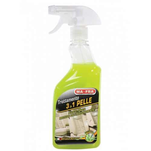 TRATTAMENTO LEATHER Care 3 in 1 PELLE 500 ml  Очищающий и защитный  состав  для  кожаных поврехностей.